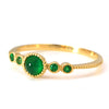 Emerald ring in 18k gold -Pluie-