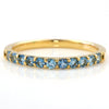 Santa Marine Aquamarine ring in 18k gold -Emma-