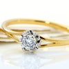 Dianond Ring in 18k gold -Fleuna-