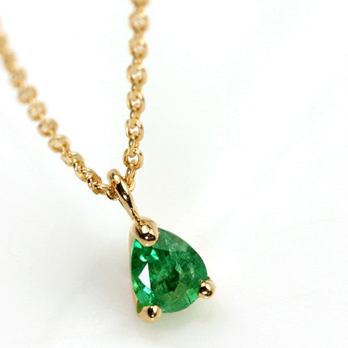 Emerald necklace in 18k gold -Poele-