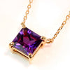 Amethyst necklace in 18k gold -Serum-