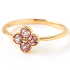Champagne Garnet ring in 18k gold -Anais-