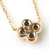 Cornflower Blue Sapphire necklace in 18k gold -Anais-