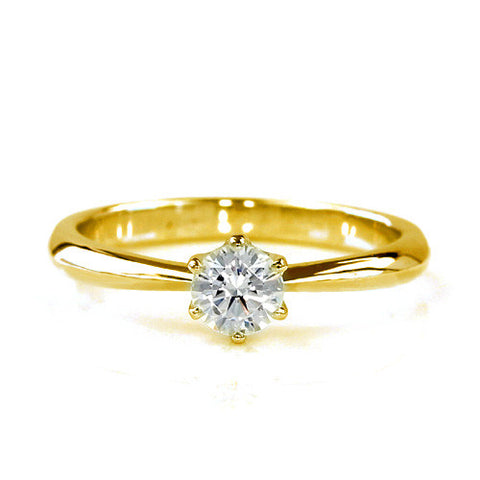 Engagement Ring in 18k Gold -Solitaire-