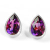 Amethyst earrings in 18k gold -Selena-