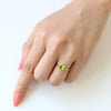 Peridot ring in 18k gold -Cepage-