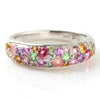 Pave Ring in 10k gold -Spring bouquet-