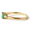 Emerald ring in 18k gold -Liddy-