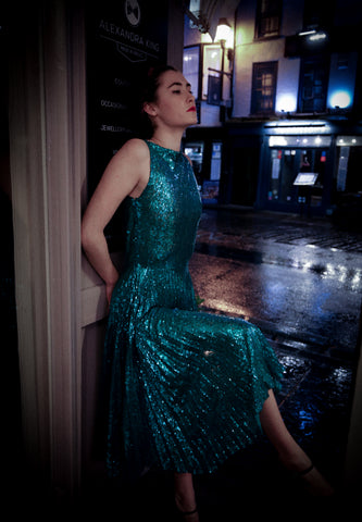 Sparkle Sequinned Dress and Photoshoot