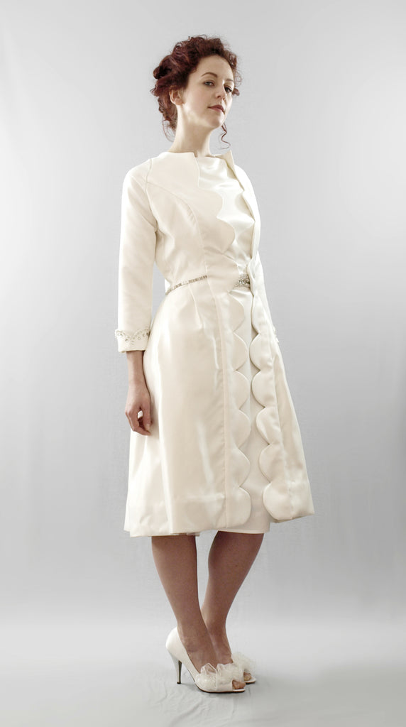 alexandra king scallop princess wedding coat