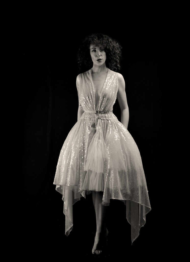 alexandra king 1920s sequin wedding dress