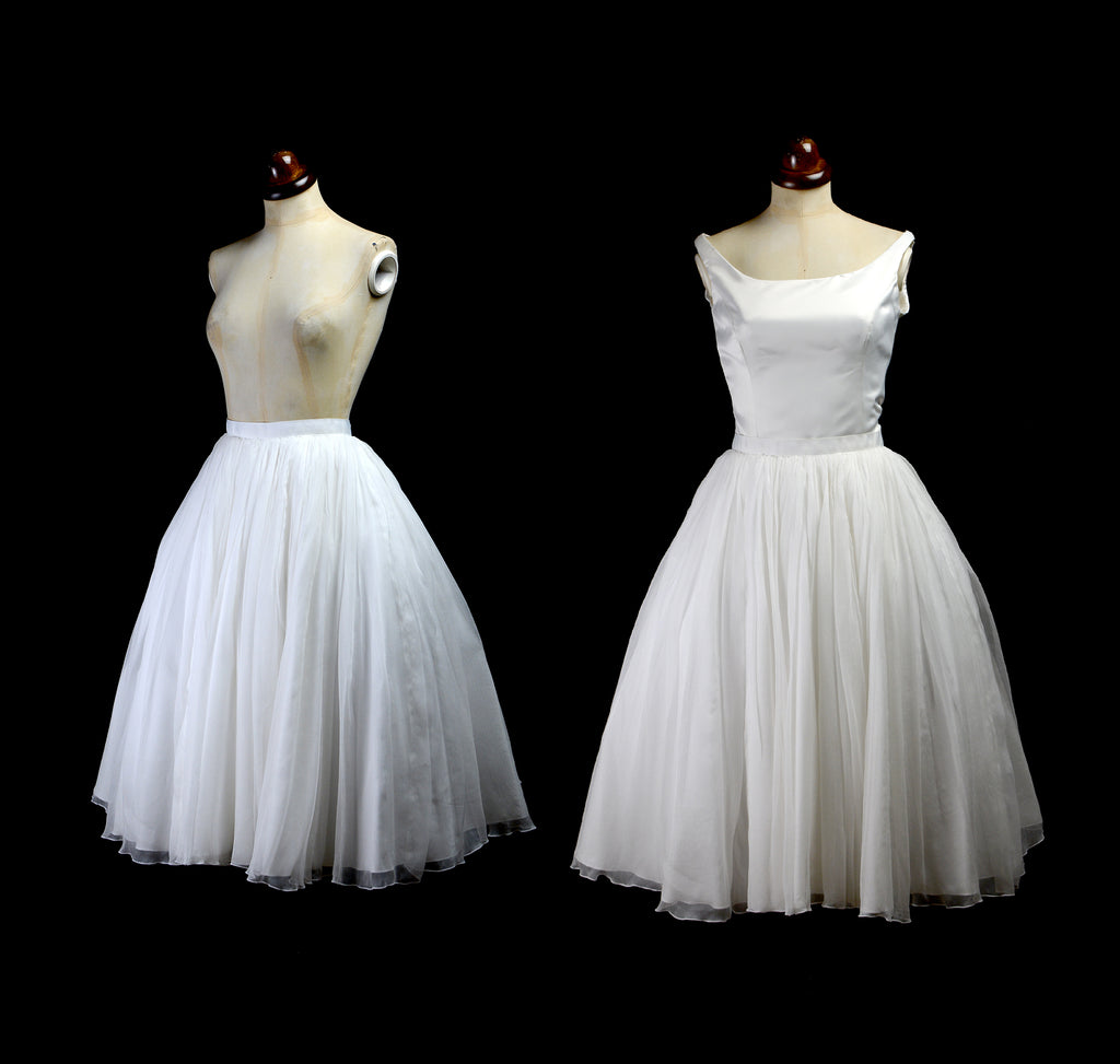 alexandra king silk chiffon bridal skirt