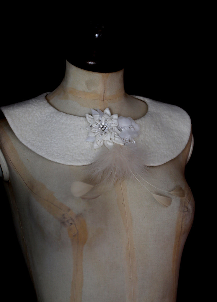 couture felt collar by Liz Clay