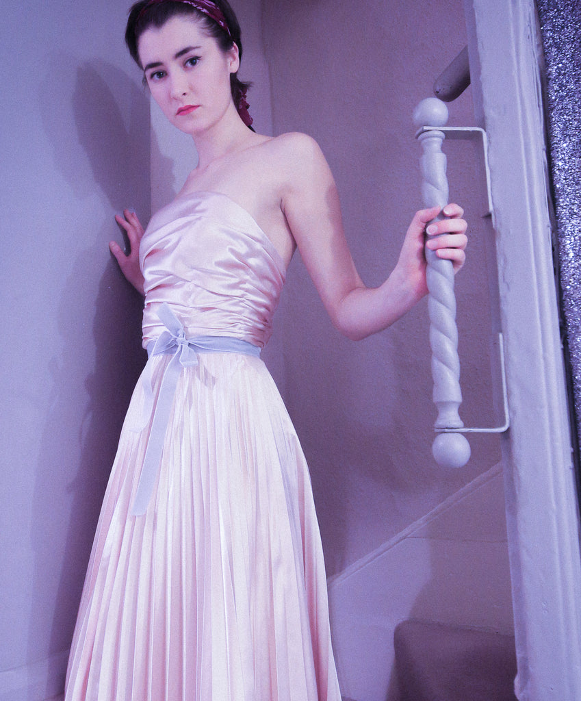 alexandra king ballet pleat pink dress