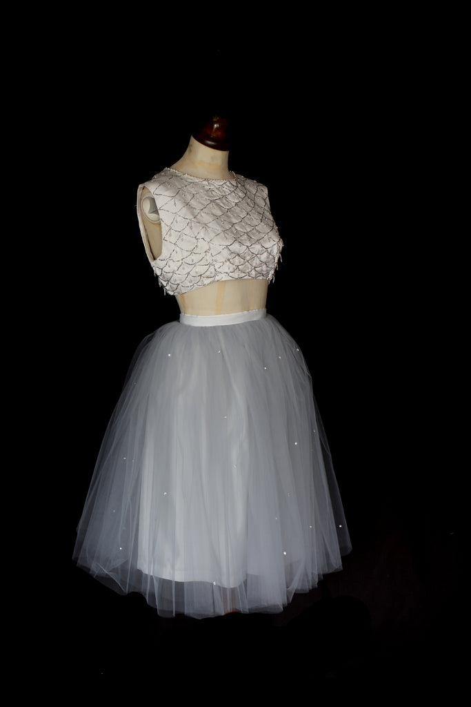 alexandra king tulle ballet skirt with Swarovski crystals for prom dress