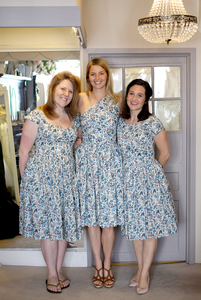 Liberty Print Bridesmaids Dresses for Ems Country Wedding ...