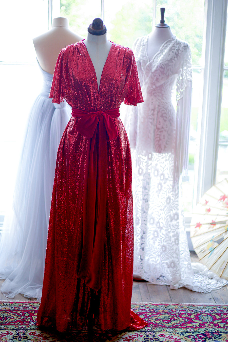 red sequin gown alexandra king for deadly is the female