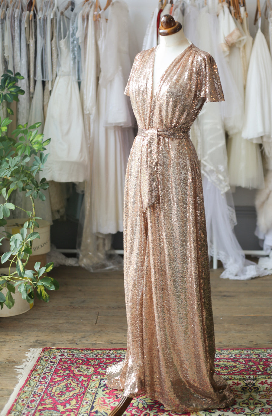 alexandra king gold sequin gown for deadly is the female