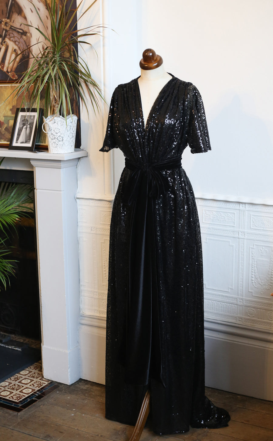alexandra king black sequin gown for deadly is the female