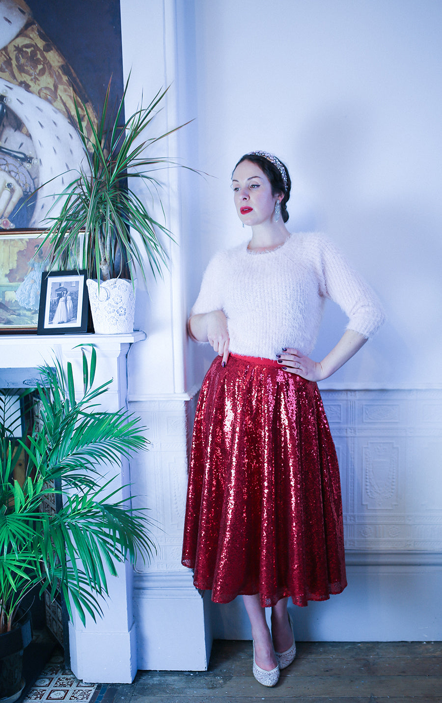 sequin swing skirt alexandra king for deadly is the female