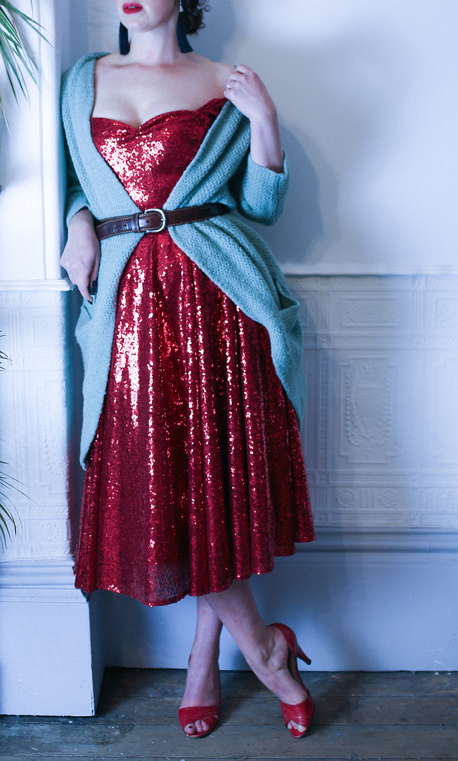 red sequin scarlett dress alexandra king x deadly is the female