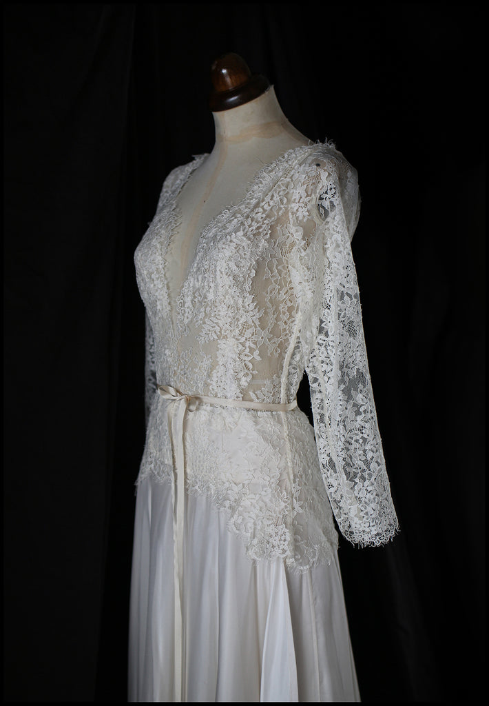 French lace bespoke bridal gown alexandra king