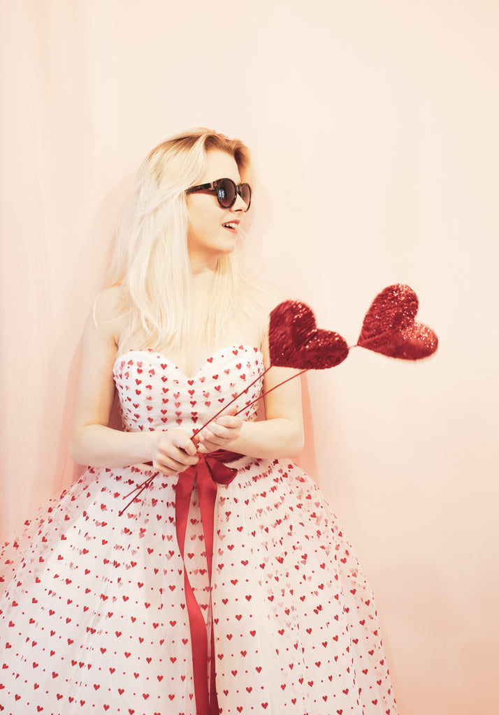 alexandra king valentine love heart tulle dress