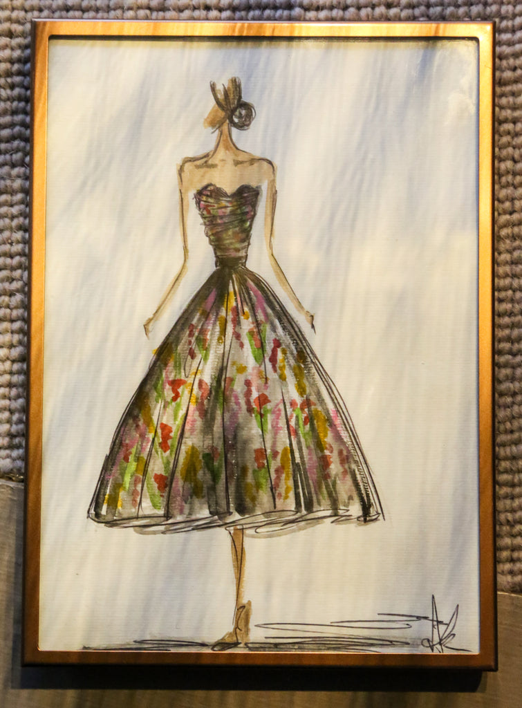 alexandra king liberty london dress sketch