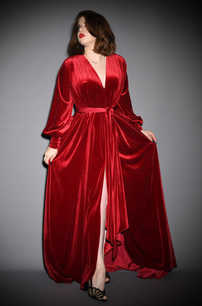alexandra king for deadly claudia dress red velvet gown