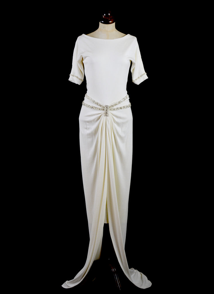 alexandra king art deco style wedding dress