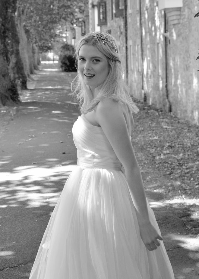 chiffon bridal skirt and top by alexandra king