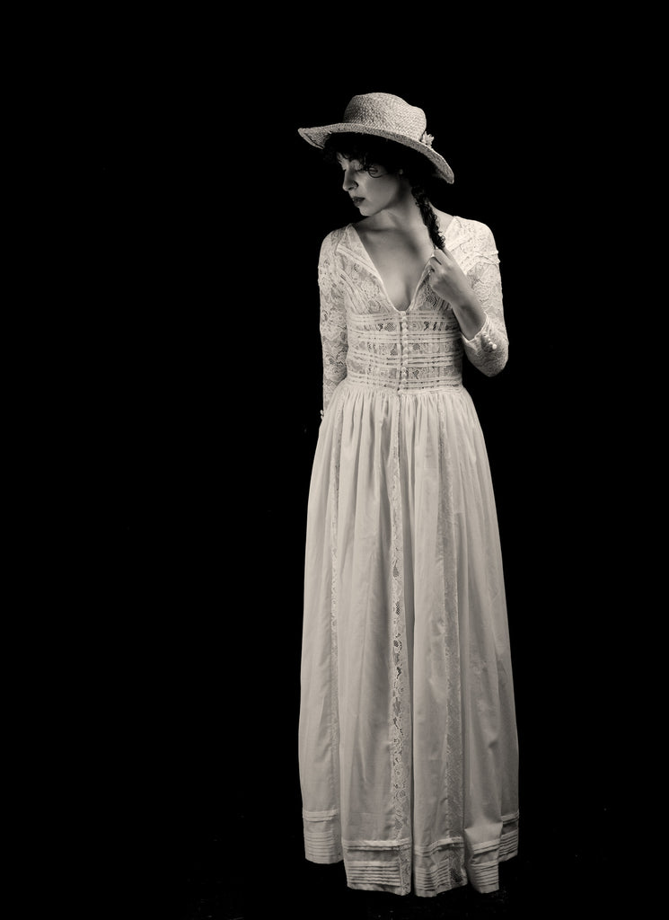 alexandra king edwardian cotton lace wedding dress