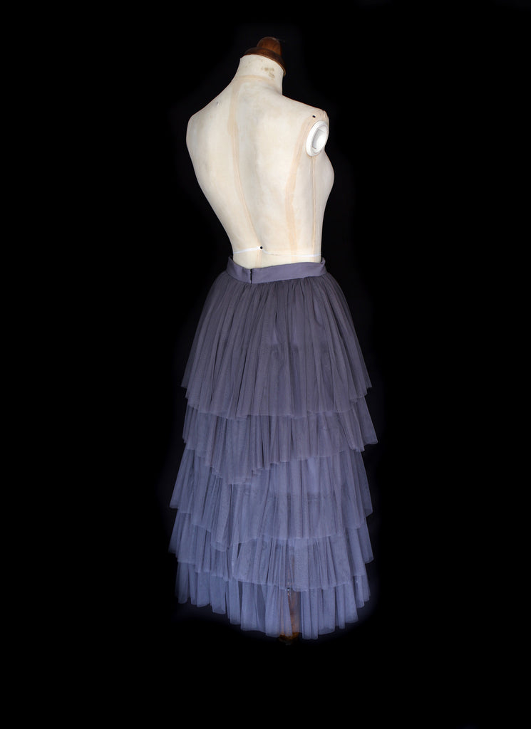 tiered tulle skirt by alexandra king