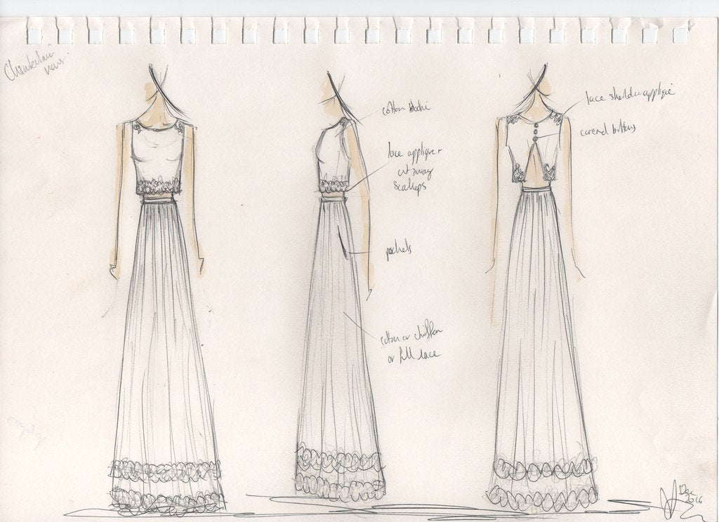 alexandra king wedding dress design