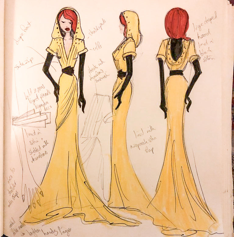 dress sketch alexandra king