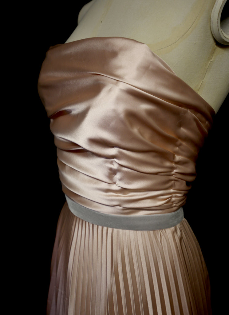 pleated satin ballet dress alexandra king
