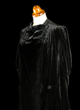 Vintage 1930s Black Silk Velvet Dress Coat