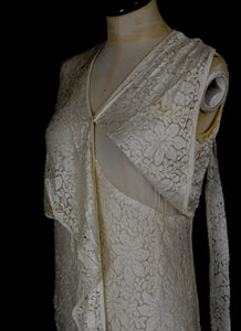 Vintage 1930s Lace Wedding Dress and Jacket