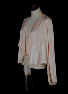Vintage 1930s Pink Silk Satin Jacket