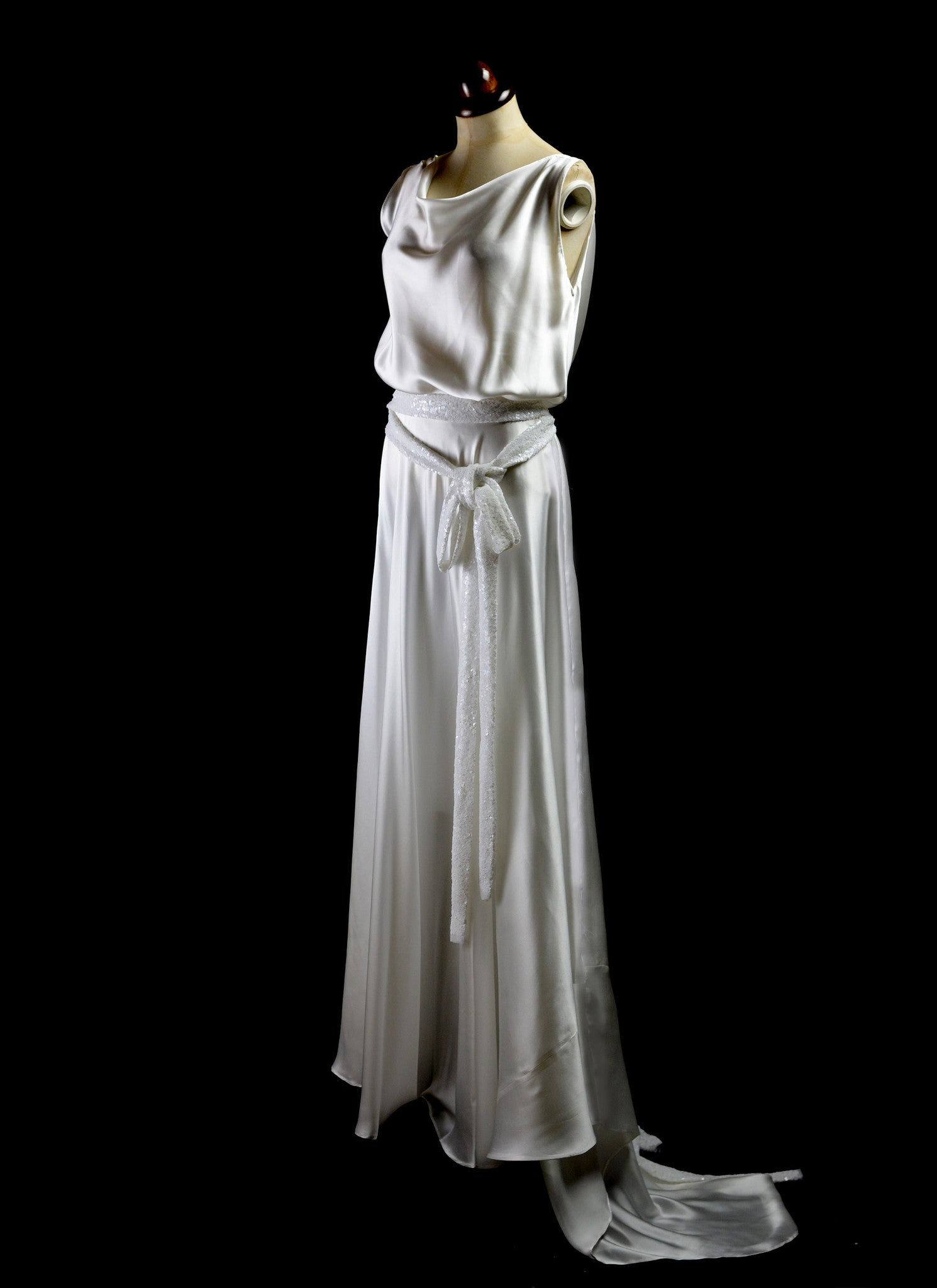 1930 Satin Bias Cut Dress Alexandraking