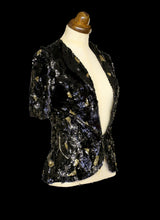 Vintage 1930s Black Deco Sequin Jacket