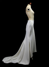 Alia -  Bespoke Silk Satin Bias Cut Mermaid Bridal Skirt with Train