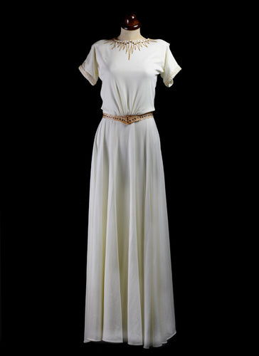 1940 - Beaded Crepe Jersey Dress