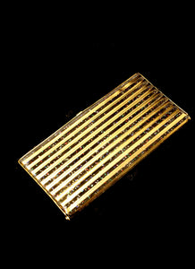 Vintage 1950s Gold Stripe Clutch Bag