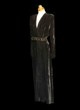 Vintage 1940s Black Velvet Wrap Dress