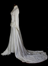 Vintage 1940s Satin Wedding Gown