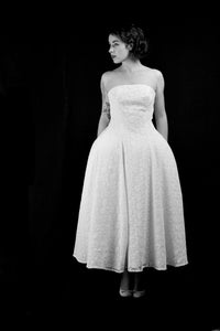 1950 - Guipure Lace Midi Dress