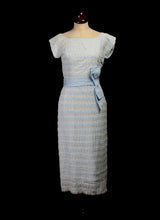 Original Vintage 1950s Blue Lace Dress