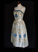 RESERVED Vintage 1950s Embroidered Dress