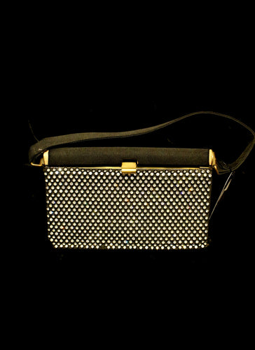 Vintage 1950s Rhinestone Box Bag